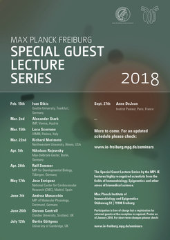 Program of the Max Planck Freiburg Special Guest Lecture Series in 2018. To be continued.