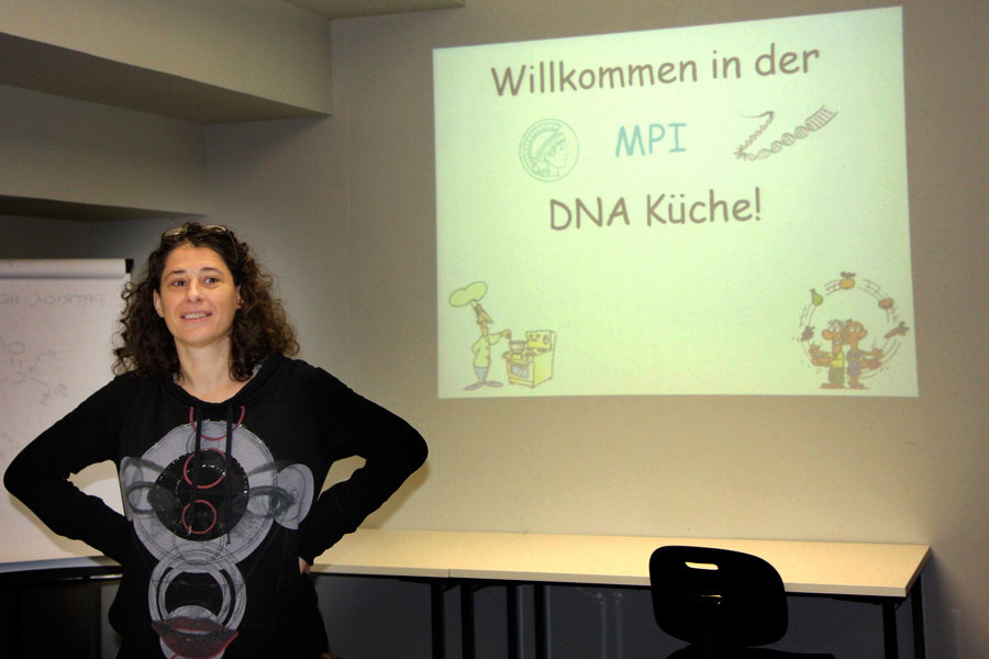 "On November 11, 2011, the first national Max Planck Day, initiated by the Max Planck Society and hosted by the individual institutes, took place. The event at the MPI-IE aimed at bringing school classes in contact with research, work and life at the institute. The program consisted of presentations about immunobiology and epigenetics, selected science movies, a tour through the institute, and the workshop ""DNA kitchen"". The trainees of the institute also presented their work to the students."