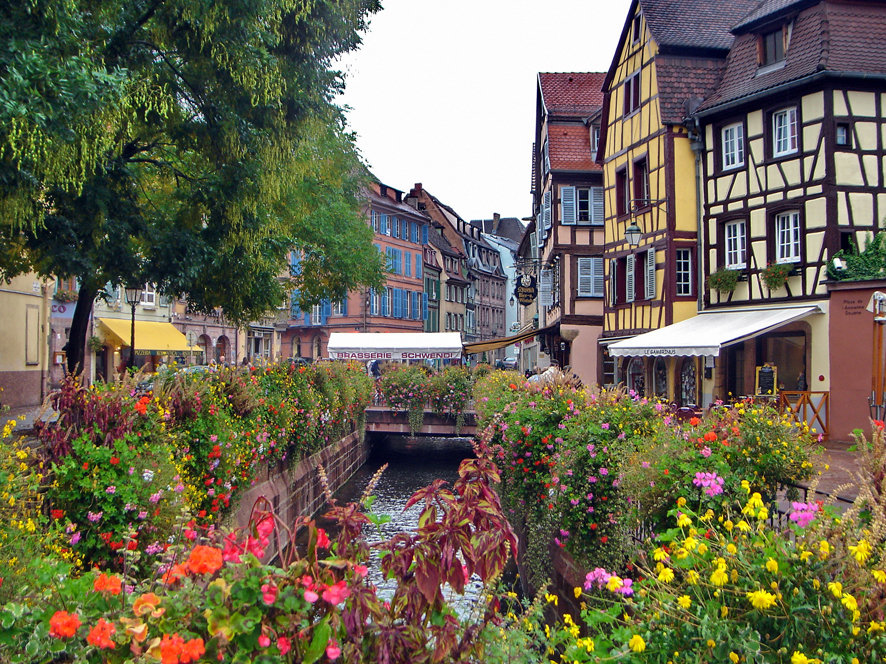 Attractive city center of Colmar, France