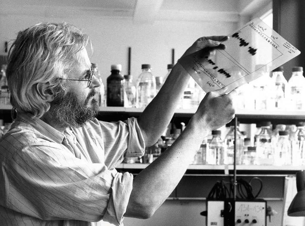 Georges Köhler in the lab.