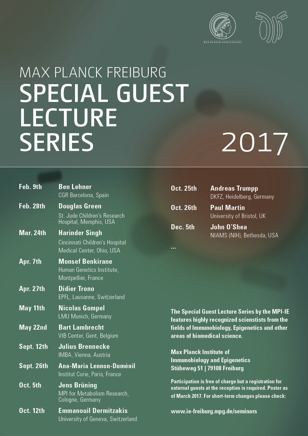 Special Guest Lecture Series 2017