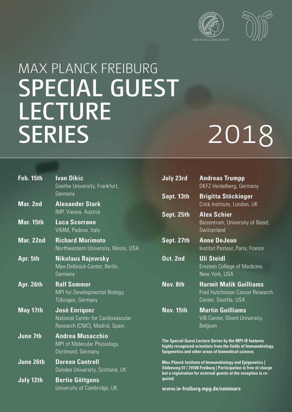 Special Guest Lecture Series 2018