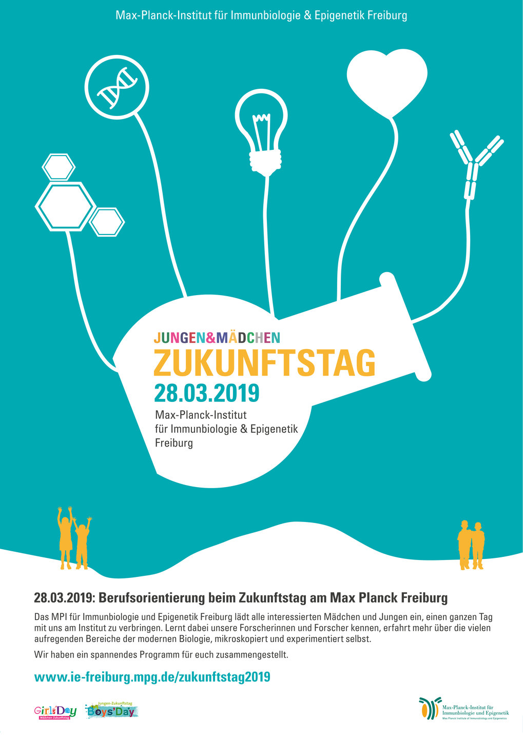 Poster – Zukunftstag 2019 at MPI-IE © MPI-IE