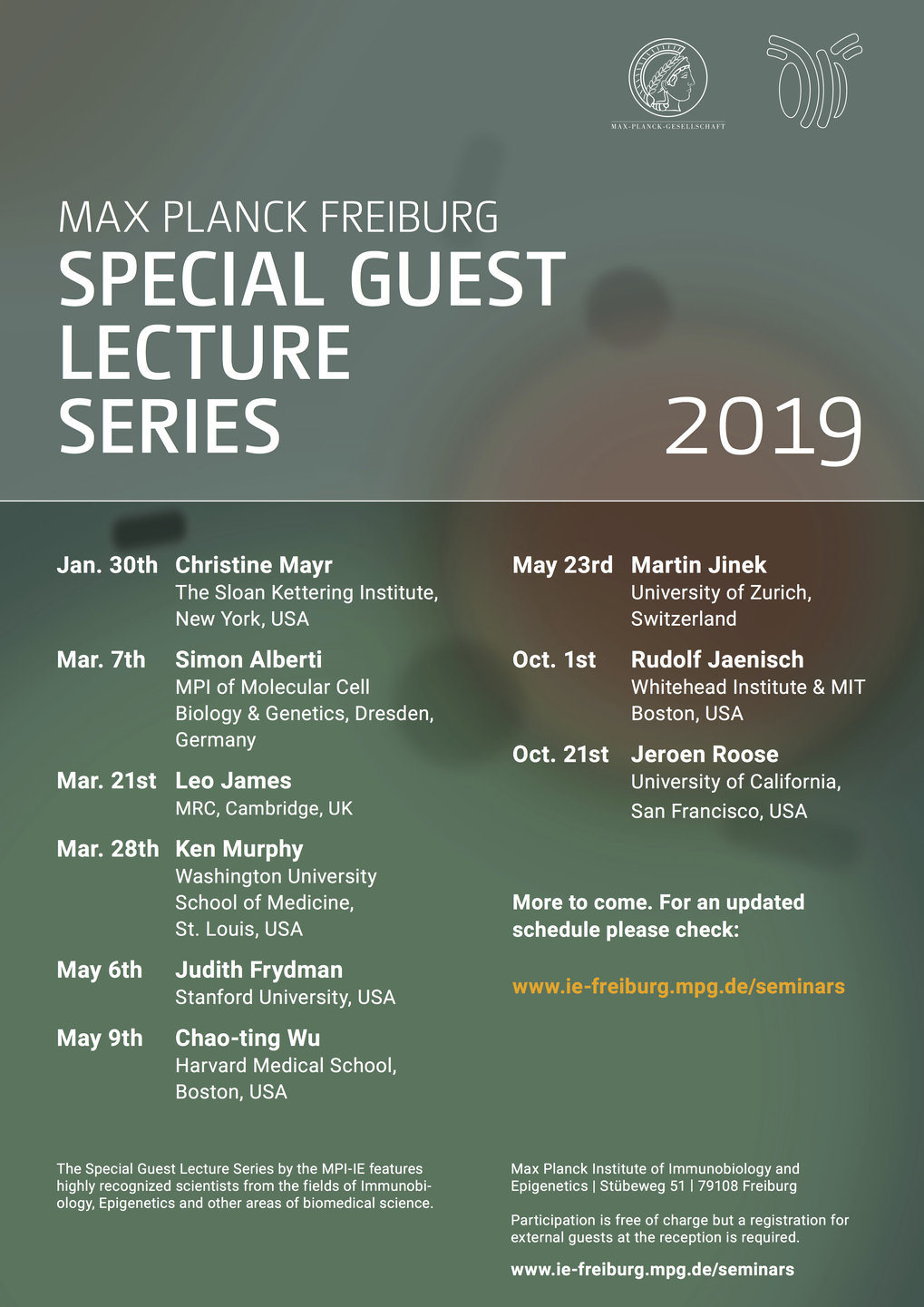 Special Guest Lecture Series 2019