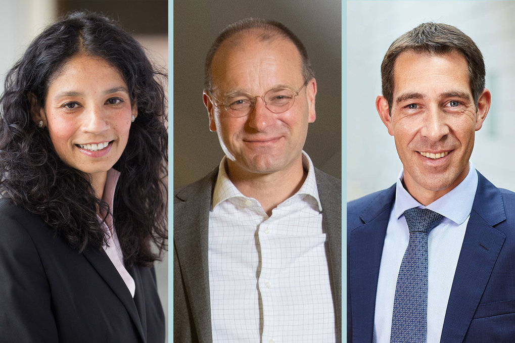 The new team supporting Max Planck President Martin Stratmann: Asifa Akhtar, Ulman Lindenberger and Klaus Blaum.